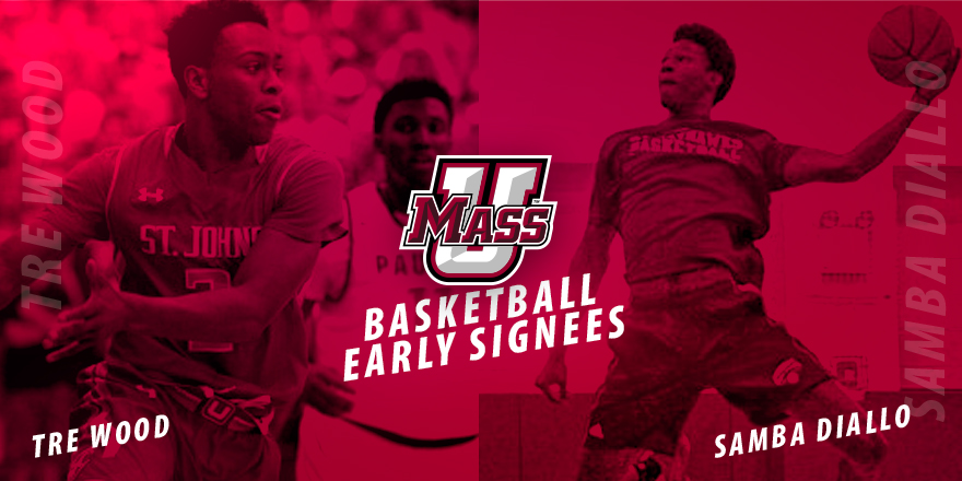 Samba Diallo, Tre Wood Sign Early NLIs With UMass Basketball